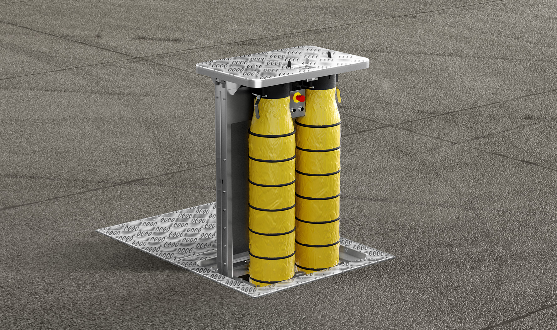 pit system, pop up pit, pca, aircondition, hoses